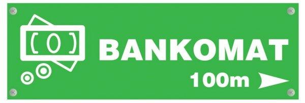 Tablica informacyjna bankomat 39/13cm (odblask)