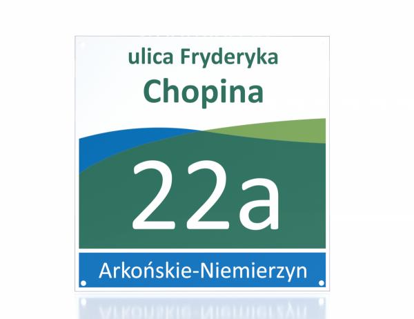 Tablica adresowa Szczecin 33/33cm