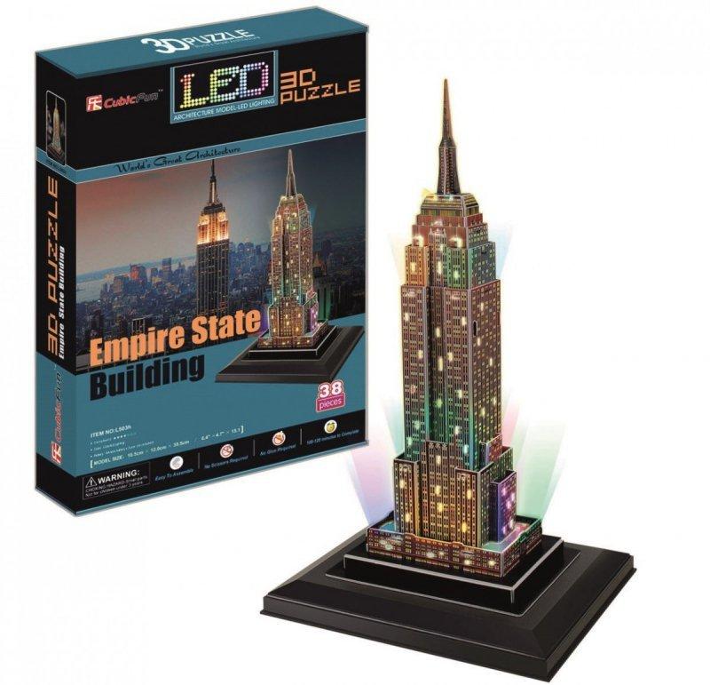 Puzzle 3D Empire State Builfing (Światło)