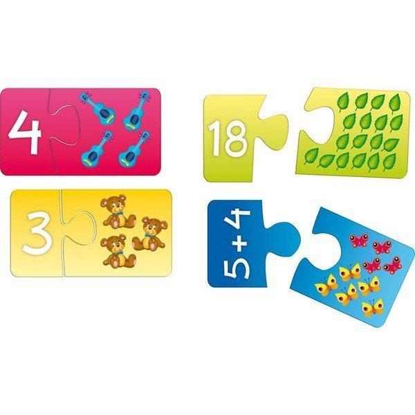 Układanka puzzlowa Cyferki