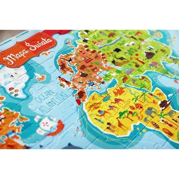 CZUCZU Puzzle Mapa Świat a6-12 lat