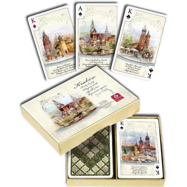 Karty Kraków Akwarele 2 x 55 listków