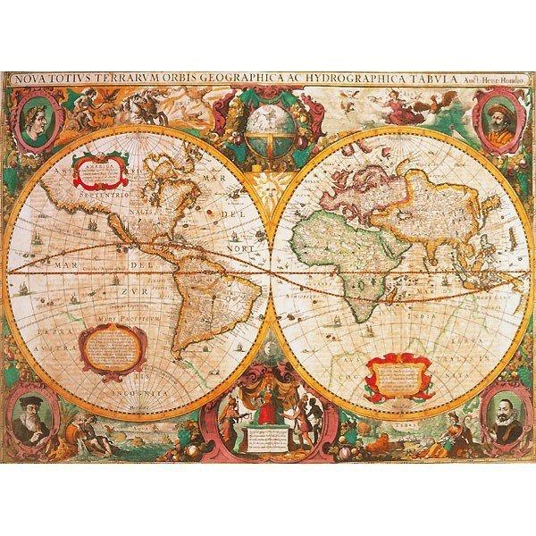 CLEMENTONI 1000 EL. Anty czna Mapa