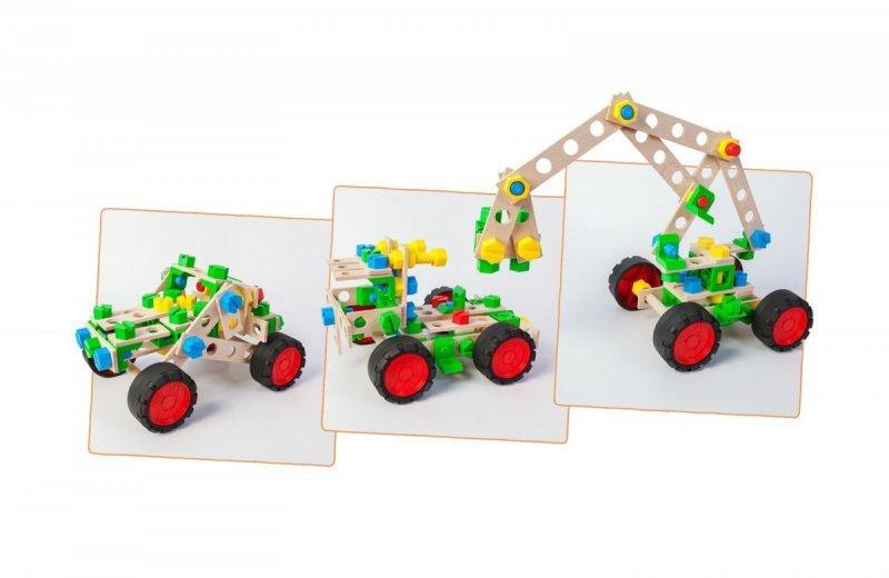 Zestaw konstrukcyjny Mały Konstruktor Junior 3w1 - Terenówka