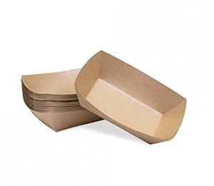 Tacka papierowa głęboka powlekana 400ml | 18,3x9cm, 100szt