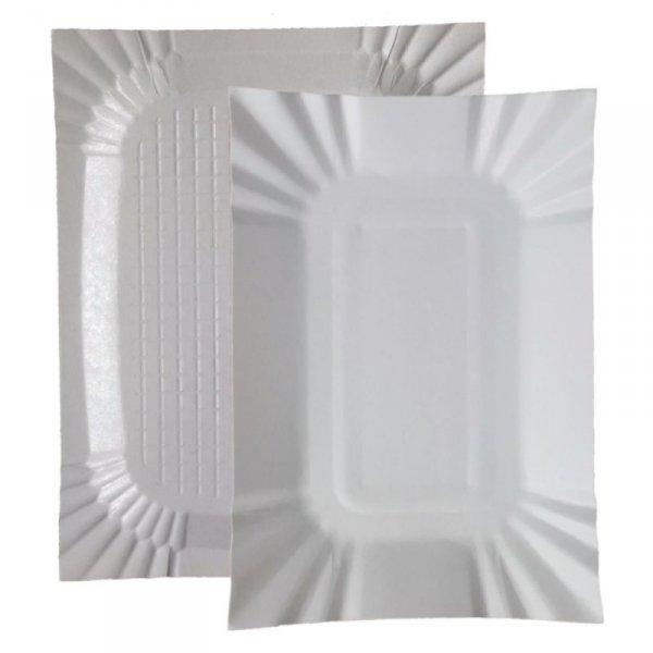 Tacka papierowa biała 14x20cm, 100szt