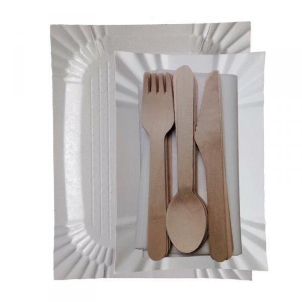 Tacka papierowa biała 14x25cm, 100szt