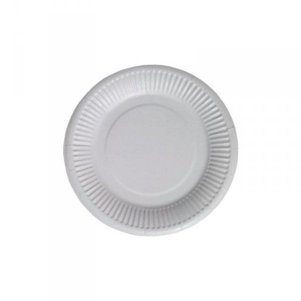Talerz papierowy biały 18cm, 100szt