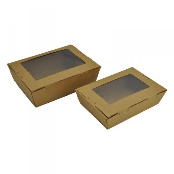 Pudełko lunchowe z okienkiem 2050ml, 50szt