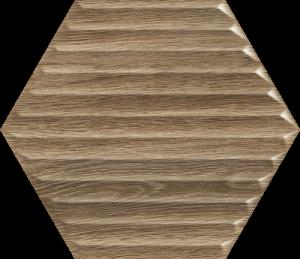 Paradyż Woodskin Wood Heksagon Struktura B 19,8x17,1
