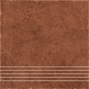 Ceramika Gres Riva Brąz Stopnica 33x33