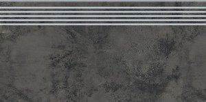 Opoczno Quenos Graphite Steptread 29,8x59,8