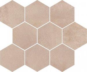 Opoczno Arlequini Mosaic Hexagon 28x33,7