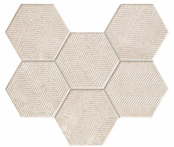 Tubądzin Sfumato Hex Mozaika 28,9x22,1