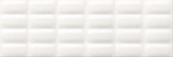 Cersanit White Glossy Pillow Structure 25x75