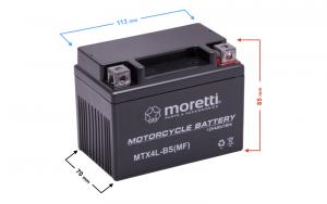 Akumulator AGM (Gel) MTX4L-BS Moretti