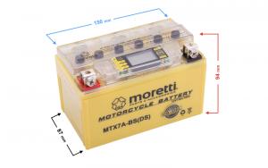 Akumulator AGM (I-Gel) MTX7A-BS Moretti ze wskaźnikiem