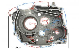 Karter silnika prawy DB250 MZK