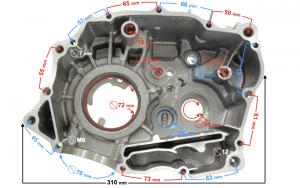 Karter silnika lewy DB250 MZK