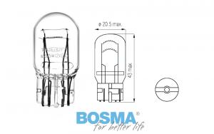 Żarówka BOSMA 12V 21/5W W21/5W T20q BLISTER 2 szt.