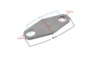 Zaślepka zaworu recyrkulacji spalin (ERG) motorower-skuter