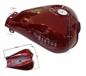 Zbiornik paliwa czerwony do motocykla Classic 125 na wtrysk
