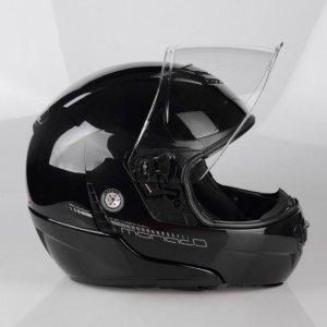 Kask motocyklowy LAZER MONACO EVO Pure Glass czarny metalik XS