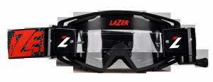 LAZER Gogle Factory (kol. Czarny - Czarny - Czerwony / Clear)