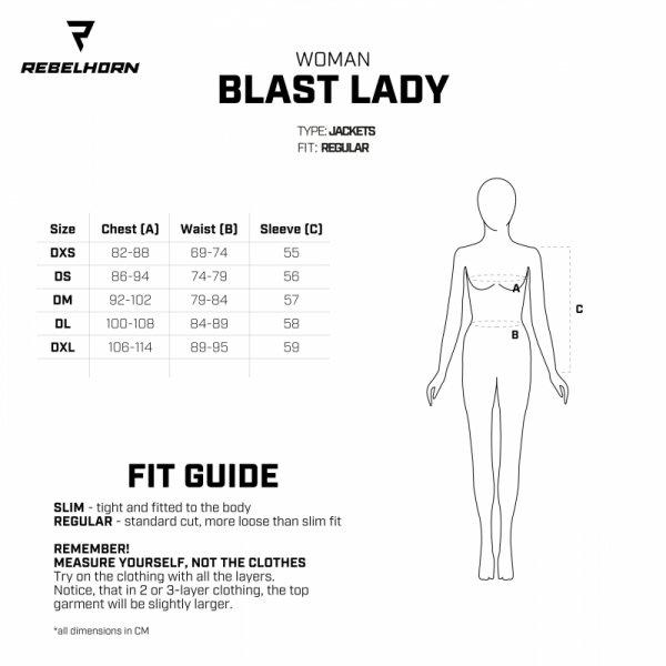 KURTKA TEKSTYLNA REBELHORN BLAST LADY ICE/BLACK/FLO YELLOW DL