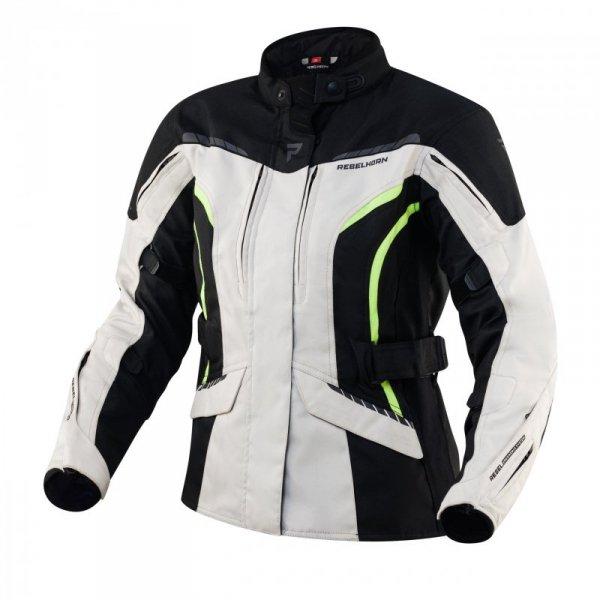 KURTKA TEKSTYLNA REBELHORN HIKER III LADY BLACK/GREY/FLO YELLOW DM