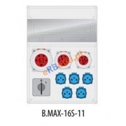 Rozdzielnica MAX BOX-16S 63/5,32/5,16/5,5Vz,wył. (0/1), IP65