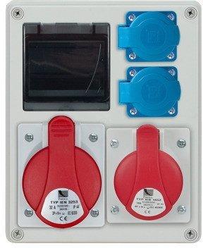 Rozdzielnica R-BOX 240R 4S 1x32A/5p, 1x16A/5p, 2x230V, zabezp. B 20/3p, B 16/1p, IP44