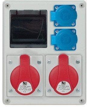 Rozdzielnica R-BOX 240R 4S 2x32A/5p, 2x230V, zabezp. C32/3, B16/1, IP44