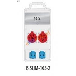 Rozdzielnica R-BOX SLIM 10S 2x16A/5p, 2x230V zabezp. 2xM.01-B16/3, 2xM.01-B16/1, IP44