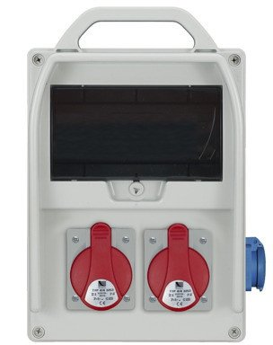 Rozdzielnica R-BOX 300 9S 2x32A/5p, 1x230V, puste okno, IP44