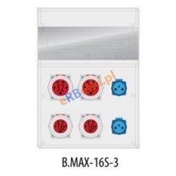 Rozdzielnica MAX BOX-16S 2x32A/5p, 2x16A/5p, IP65