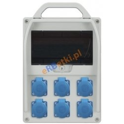 Rozdzielnica R-BOX 300R 9S 6x230V, zabezp.6x B 16/1p, IP44