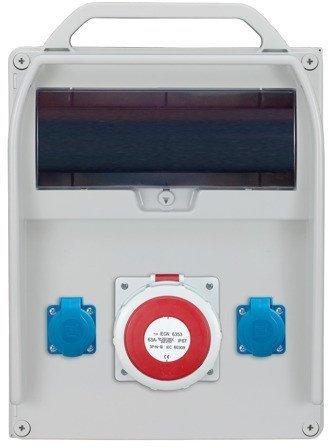 Rozdzielnica R-BOX 380R 13S 1x63A/5p, 2x230V, puste okno, IP 44