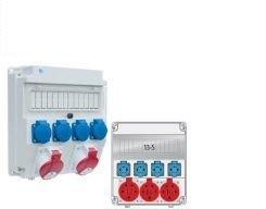 Rozdzielnica R-BOX 300R 9S 2x32A/5p, 1x230V, zabezp. 2xM.01-B32/3, 1xM.01-B16/1, IP44