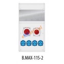 Rozdzielnica MAX BOX-11S 1x32A/5p, 1x16A/5p, 4x230V, IP 65