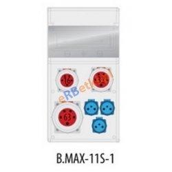 Rozdzielnica MAX BOX-11S 1x63A/5p, 1x32A/5p, 1x16A/5p, 3x230V, IP65