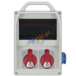Rozdzielnica R-BOX 300R 9S 2x32A/5p, 2x230V, zabezp. 2xM.01-B32/3, 2xM.01-B16/1, IP44