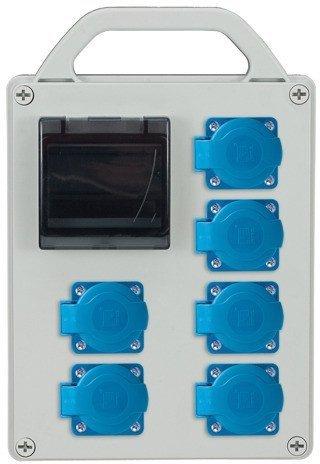 Rozdzielnica R-BOX 240R 4S 6x230V, zab.różn.prąd.2xB20/1, 1x2/25/0,03, IP44