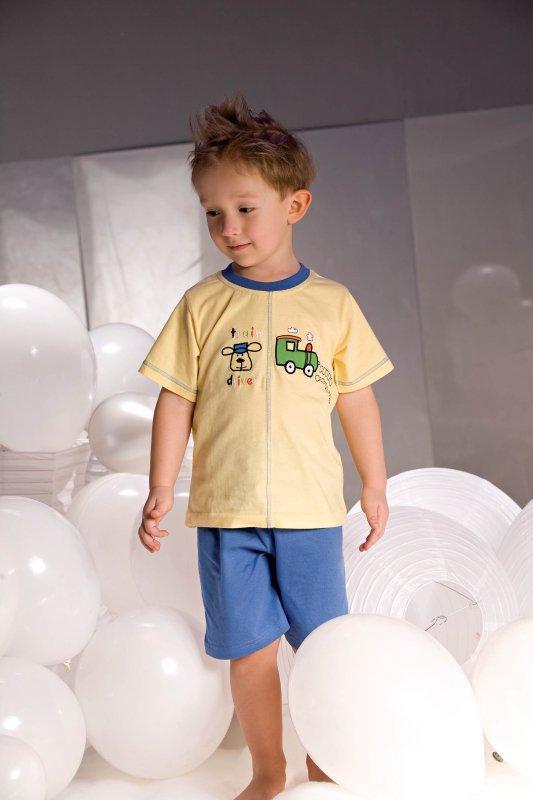 Piżamka chłopięca Samuel 2973 żółto-niebieska