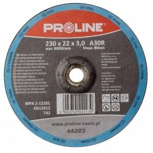 TARCZA DO CIĘCIA METALU WYP. T42, 125x2.5x22A36S PROLINE