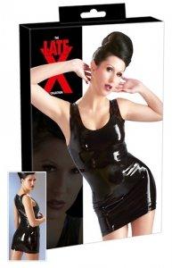 Lateksowa mini sukienka czarna L