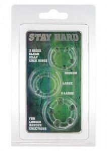 Pierścień-STAY HARD - THREE RINGS - CLEAR