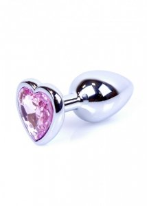 Plug-Jewellery Silver  Heart PLUG- Rose