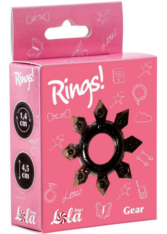 Pierścień-Cockring Rings Gear black