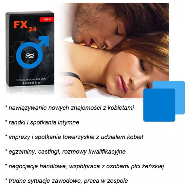 Feromony z perfumem FX24 ! Każda kobieta twoja !